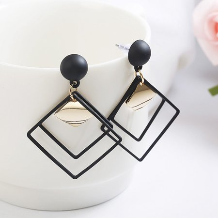 KABOER Fashion Temperament Long Matte Pendant Earrings Korean Wild Sequins Geometric Earring Female Elegant Earrings Jewel Gifts