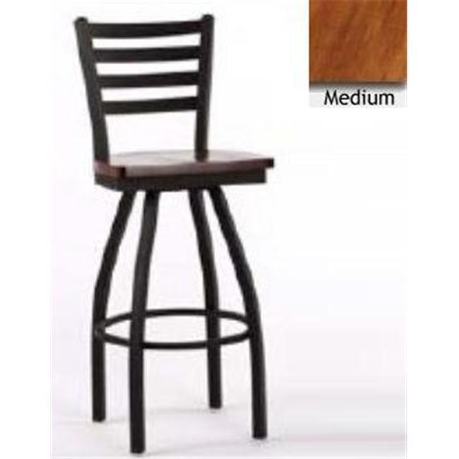 Great American Barstools 30 inch Superior Base Barstool - Medium Wood Seat