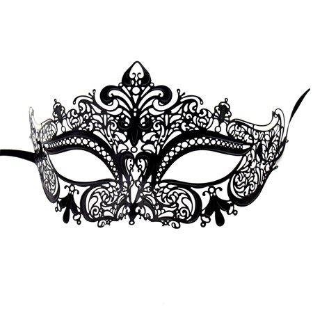 Coxeer Masquerade Masks for Women Metal Mardi Gras Mask Venetian Crown Mask (Womens Mask)