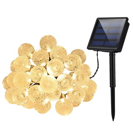 Cymas Solar String Lights  30Led Crystal Balls Decorative Lighting For Outdoor  Patio  Lawn  Fairy Garden  Wedding  Holiday  Parties  Ip 65 Waterproof   8 Working Modes   1 Pack