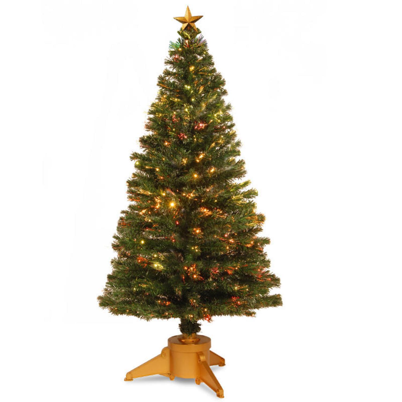 National Tree 6' Pre-lit Fiber Optic Radiance Fireworks A...