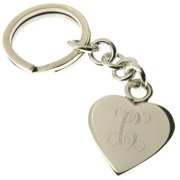 Sterling Arts Handmade .925 Sterling Silver Personalized Heart Key Ring (Mexico)