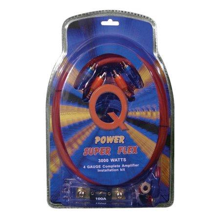 QPower Super Flex 4 Gauge 3000 Watt Amplifier Wiring Amp Kit | 4GAMPKIT-SFLEX ()