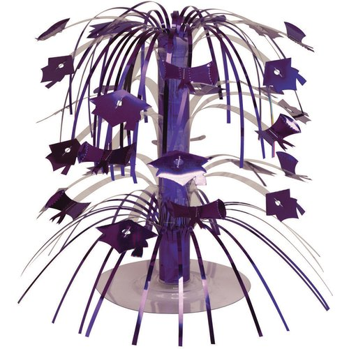 Purple Graduation Mini Cascade Centerpiece
