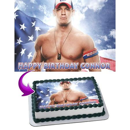 John Cena Party (John Cena WWE Edible Cake Image Topper Personalized Picture 1/4 Sheet)