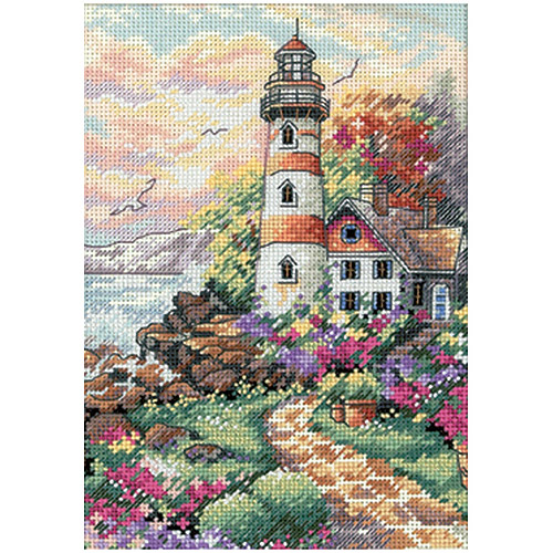 "Dimensions Gold Collection Petite ""Beacon At Daybreak"" Counted Cross Stitch Kit, 5"" x 7"""