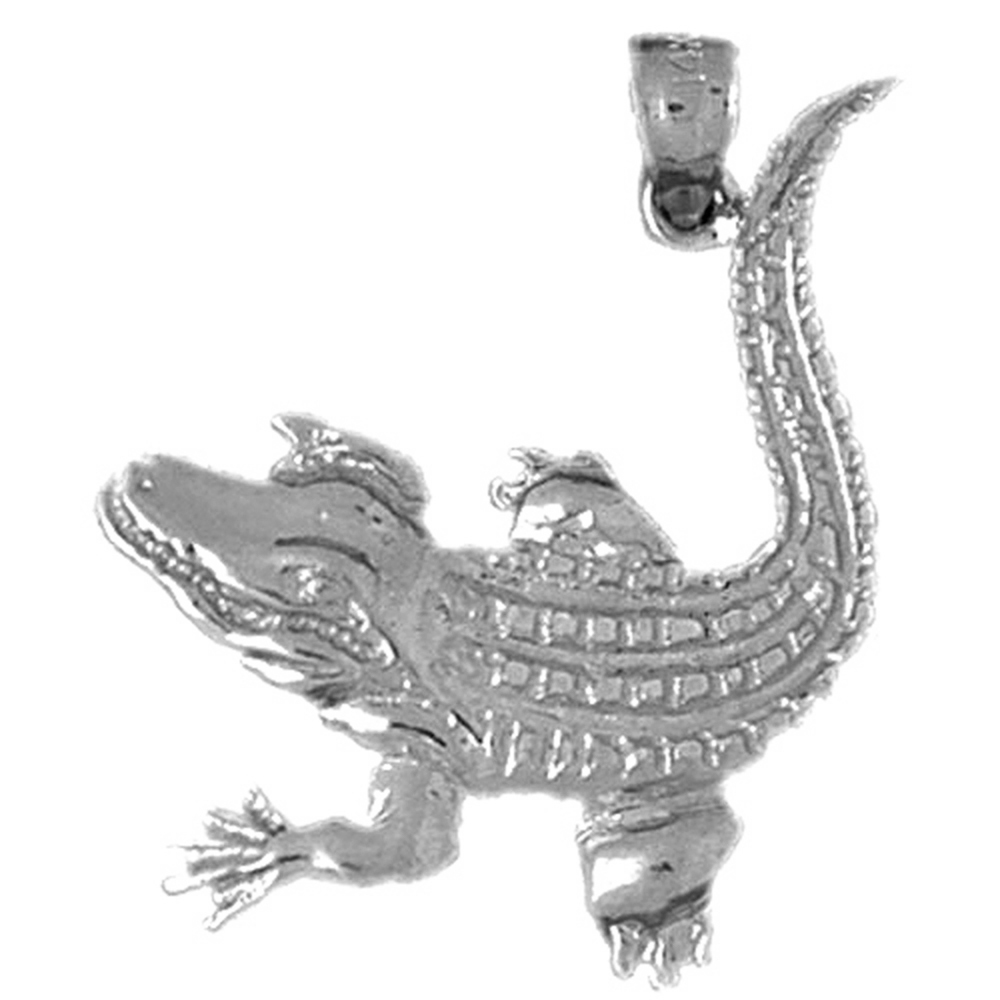 Sterling Silver Aligator Pendant - 31 mm (Approx. 3.145 grams)