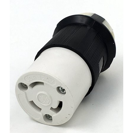 Power Cord Lock - TruePower RV 30 Amp Power Cord Adapter Twist Lock Replacement Connector / Receptacle.