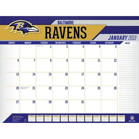 Ravens Calendar 2019 2019 22X17 DESK CALENDAR, BALTIMORE RAVENS   Walmart.com