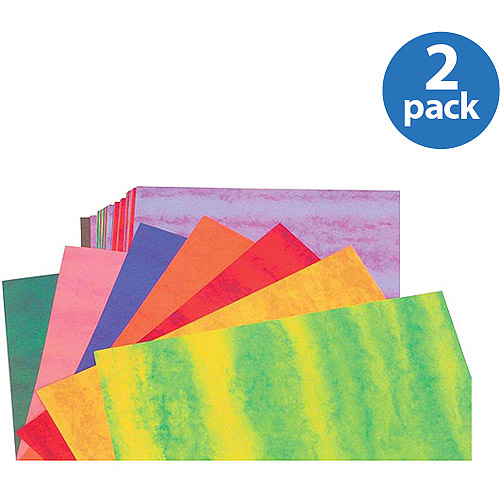 "School Smart Heavyweight Marbled Construction Paper, 9"" x 12"", Pack of 50 Sheets, 2 Pack"