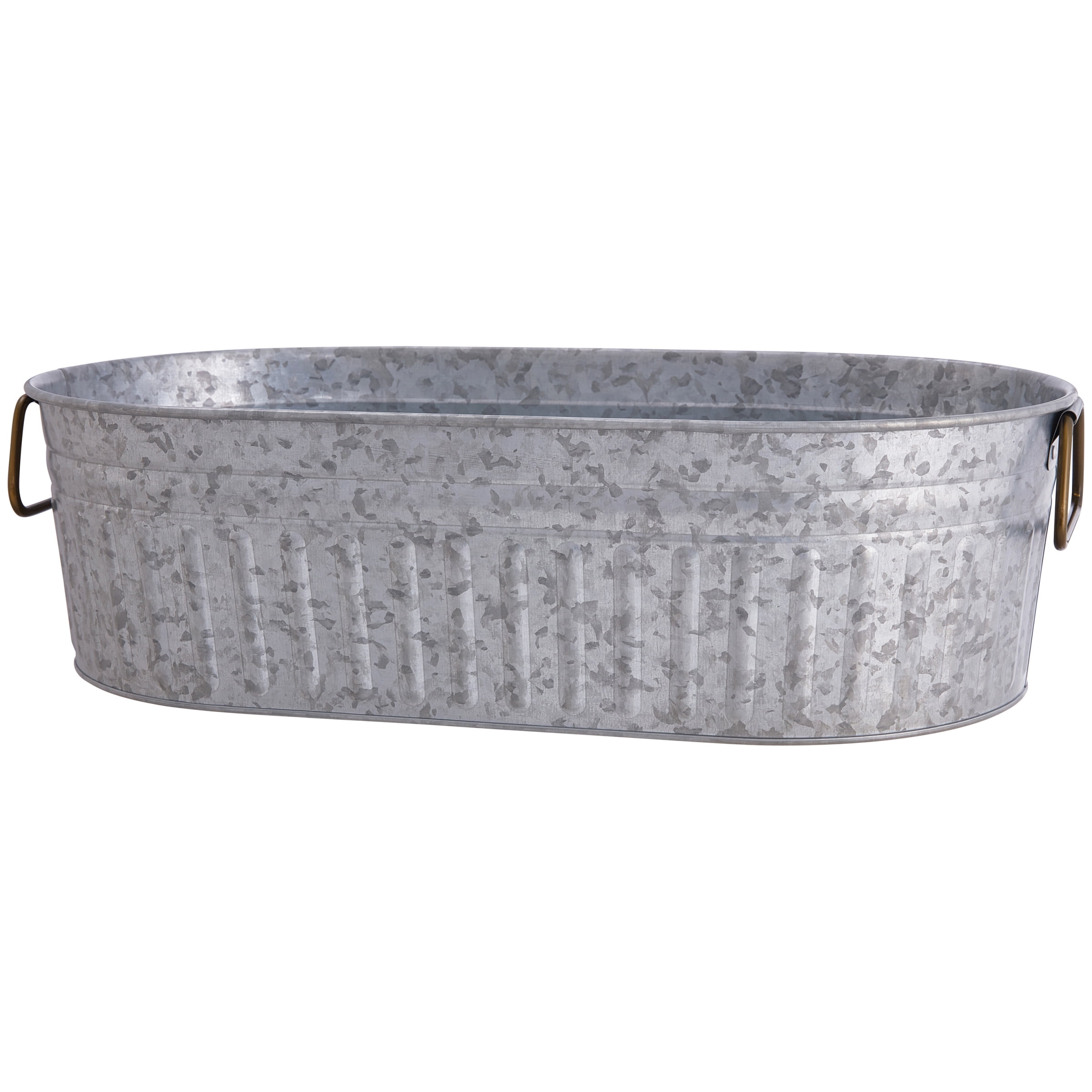 Better Homes Gardens Galvanized Oval Tub Walmart Com Walmart Com