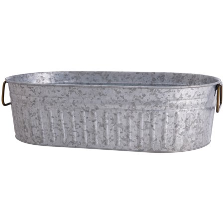 Better Homes and Gardens Galvanized Steel Oval - Plastic Ice Tub