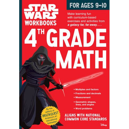 Star Wars Workbook: 4th Grade Math - Paperback