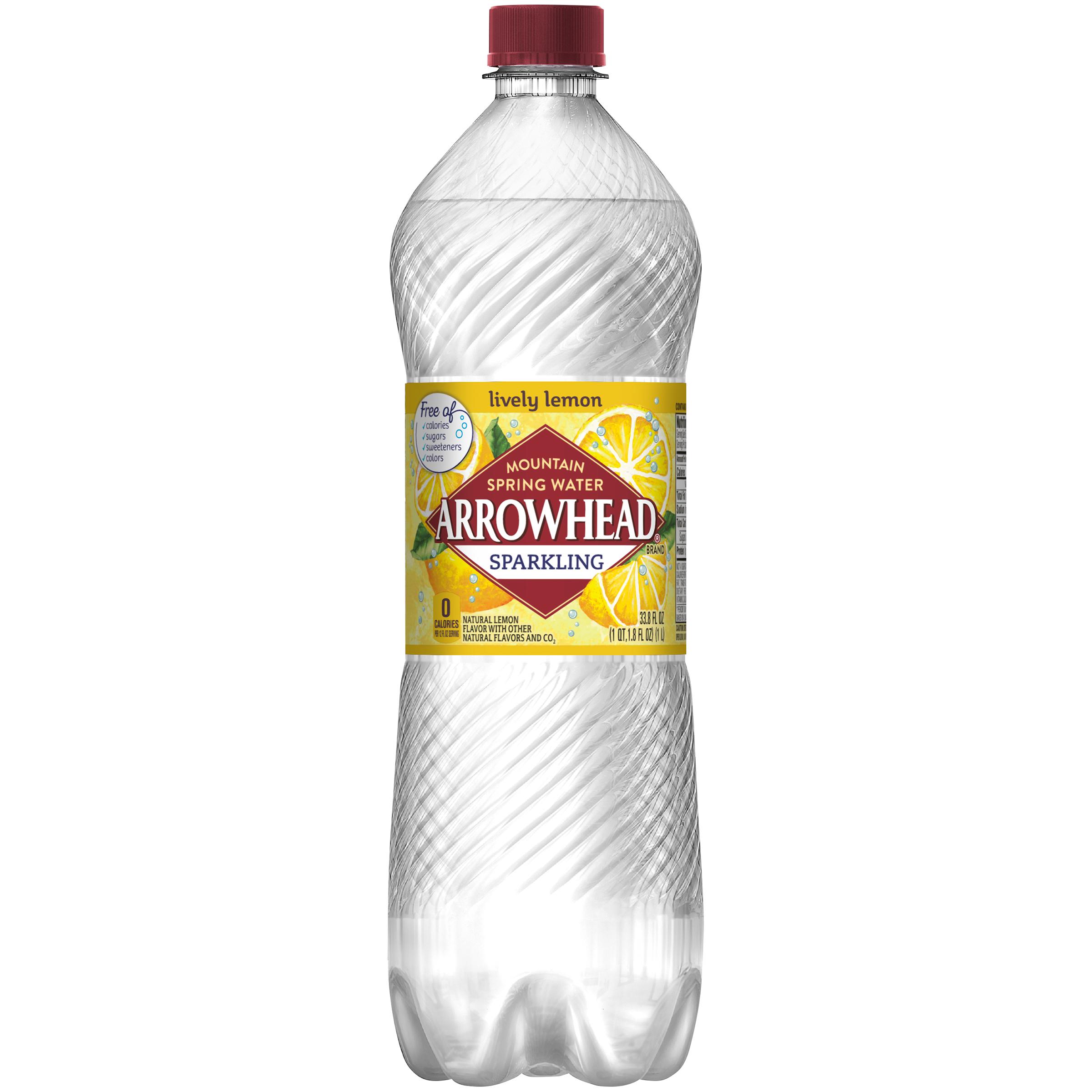 Arrowhead Zesty Lively Lemon Sparkling Water, 33.8 Fl. Oz.