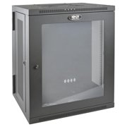 Tripp Lite SRW15USG SmartRack 15U Low/Profile Switch/Depth Wall/Mount Rack Enclosure Cabinet with Clear Acrylic Window, Hinged Back