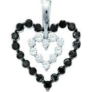 Gold and Diamonds PWZA1024-W 0.68CT-DIA HEART PENDANT- Size 7