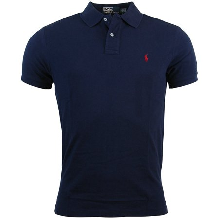 Nwt   Polo Ralph Lauren Mens Custom Fit Polo Shirt   Navy Blue