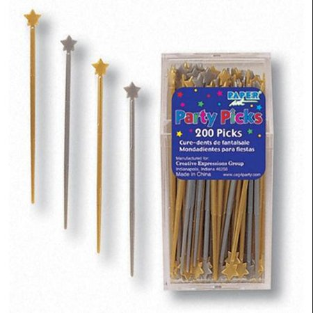Club Pack of 2400 Silver and Gold Star Plastic Party Hors D
