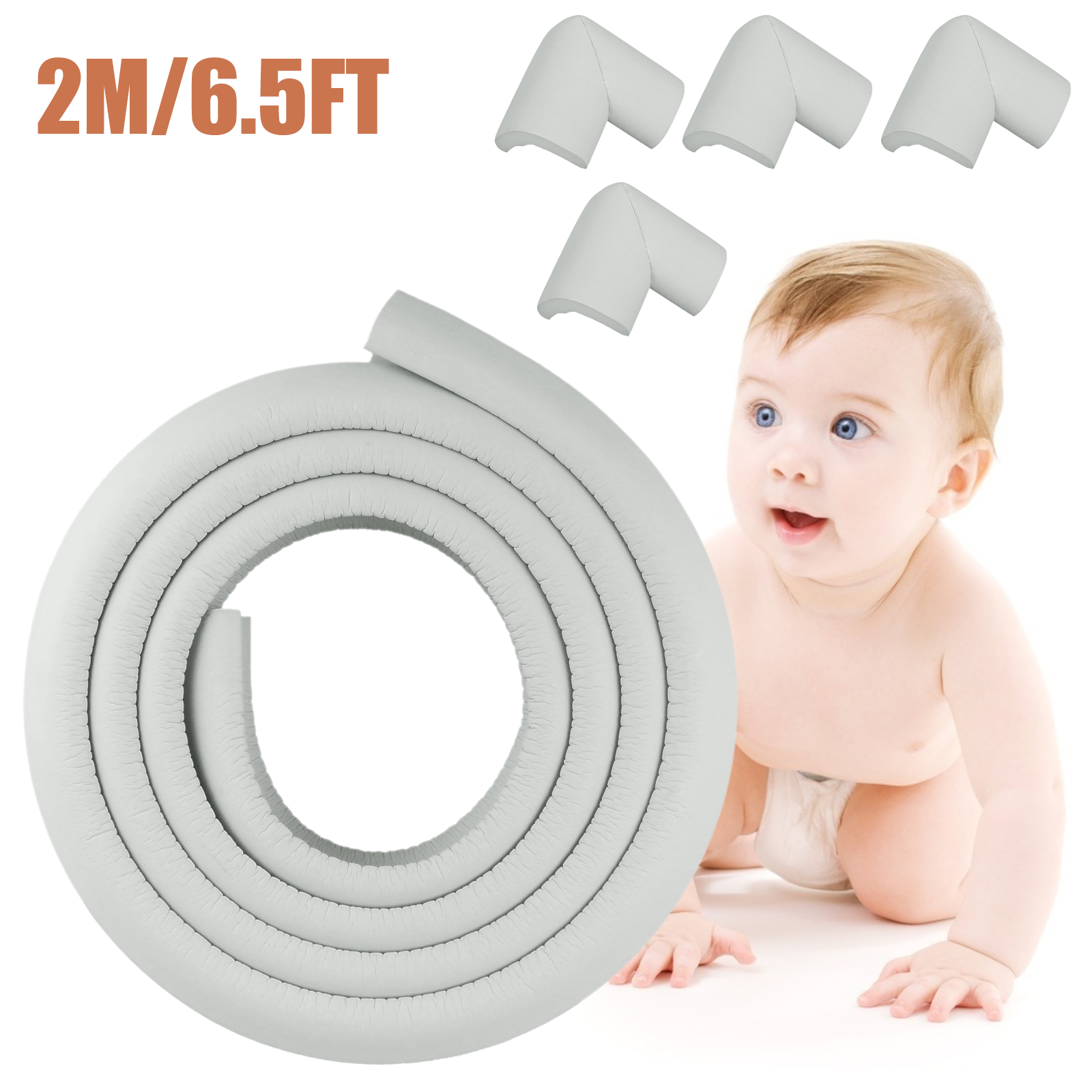 10Pc Kids Baby Table Desk Safe Edge Corner Cushion Guard Strip Bumper Protector