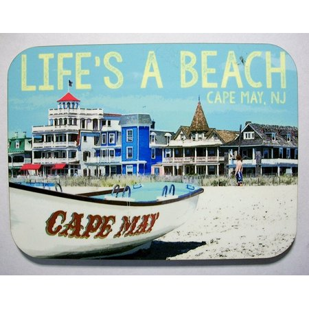 Cape May New Jersey Life's a Beach Photo Fridge Magnet