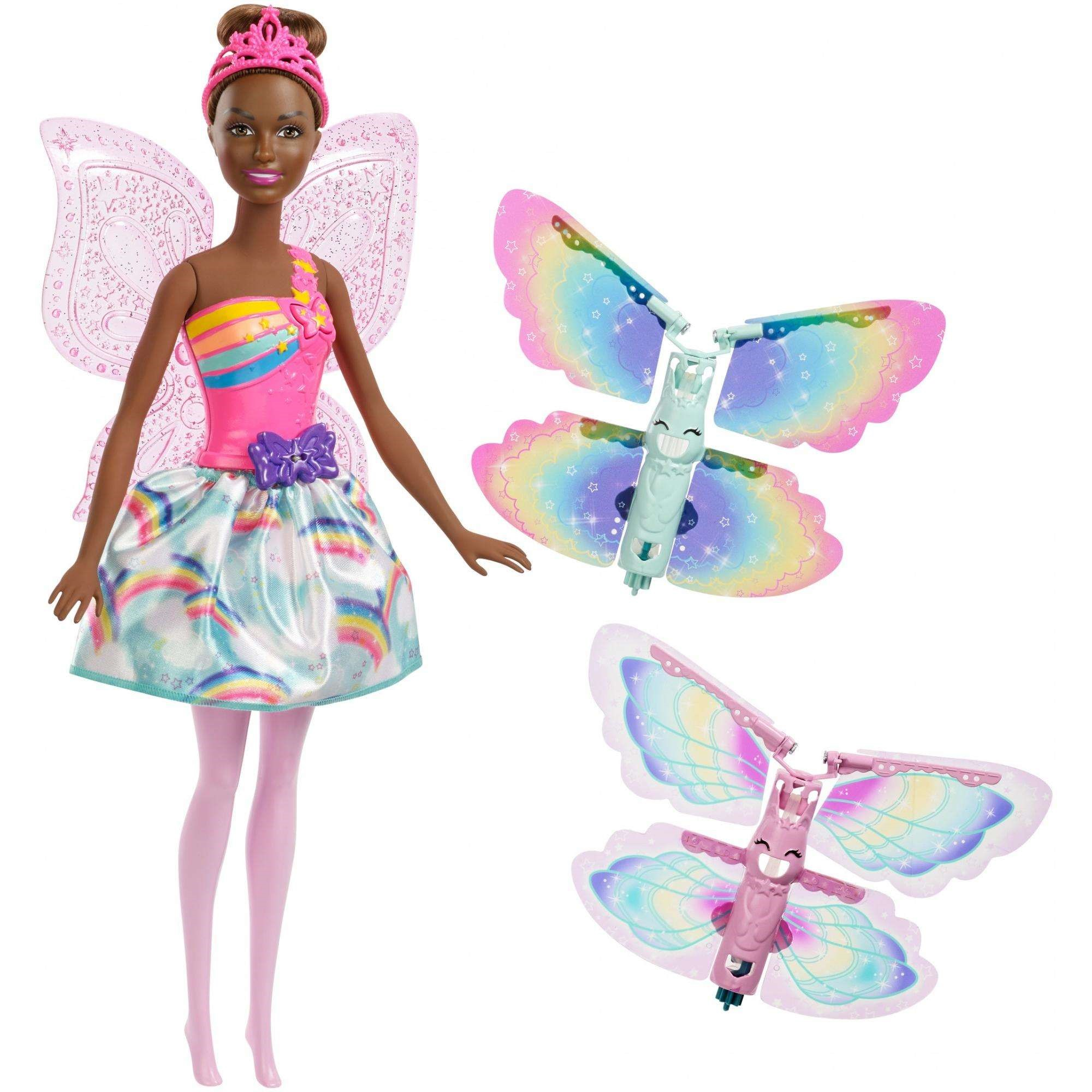 Barbie Dreamtopia Flying Wings Fairy Doll with Extra Pair of Wings