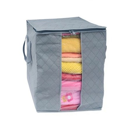 Pillow Storage Box - Large Clothes Bedding Duvet Zipped Pillows Non Woven Storage Bag Box GY
