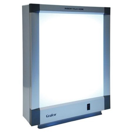 Grafco One Bank X-Ray Illuminator, Self standing, 14 x 17 Viewing Panel, (X-ray Illuminator Two Bank)