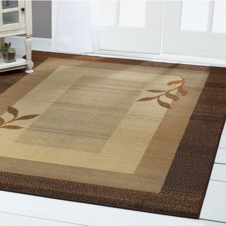 Home Dynamix Royalty Collection Transitional Brown Blue Area Rug For Modern Decor