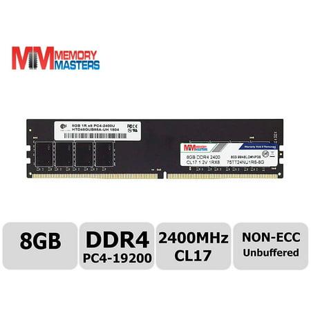 MemoryMasters Hynix IC 8GB DDR4 2400MHz PC4-19200 Unbuffered Non-ECC 1 2V  CL17 1Rx8 Single Rank 288 Pin UDIMM Desktop Memory RAM Module Upgrade