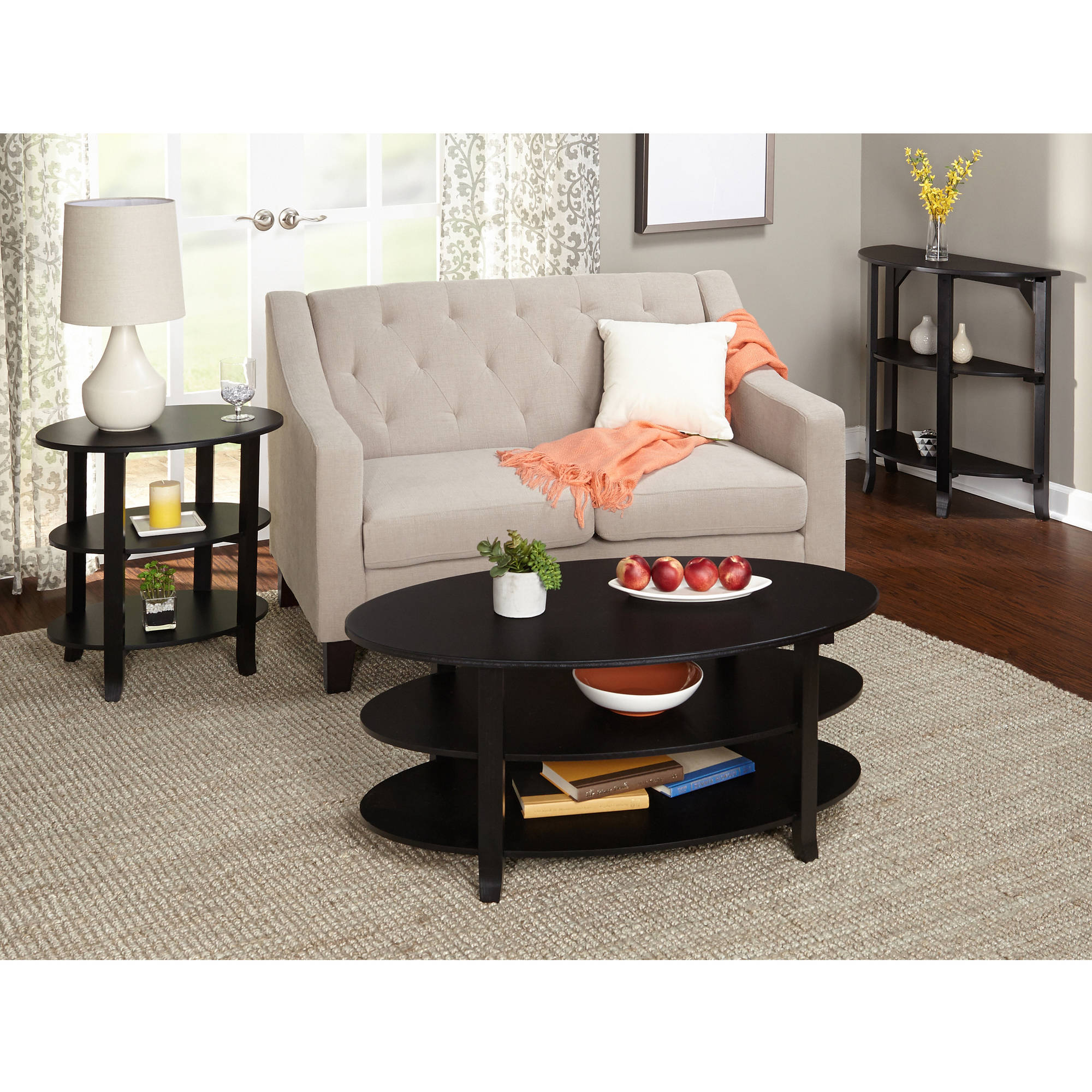 London 3 Tier Coffee Table Multiple Finishes Walmart