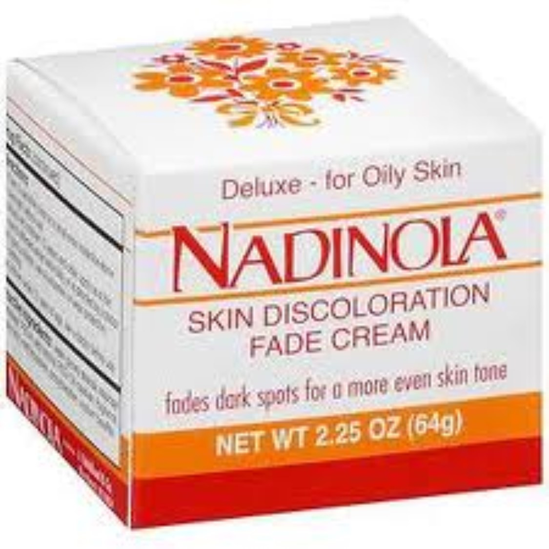 Nadinola Deluxe Skin Discoloration Fade Cream for Oily Skin, 2.25 oz