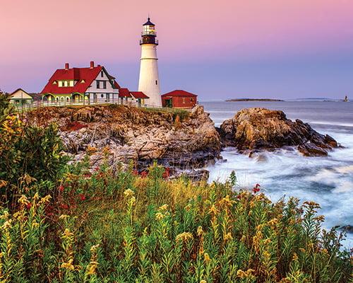 White Mountain Puzzles Maine Lighthouse 1000 Piece Jigsaw Puzzle by White Mountain Puzzles