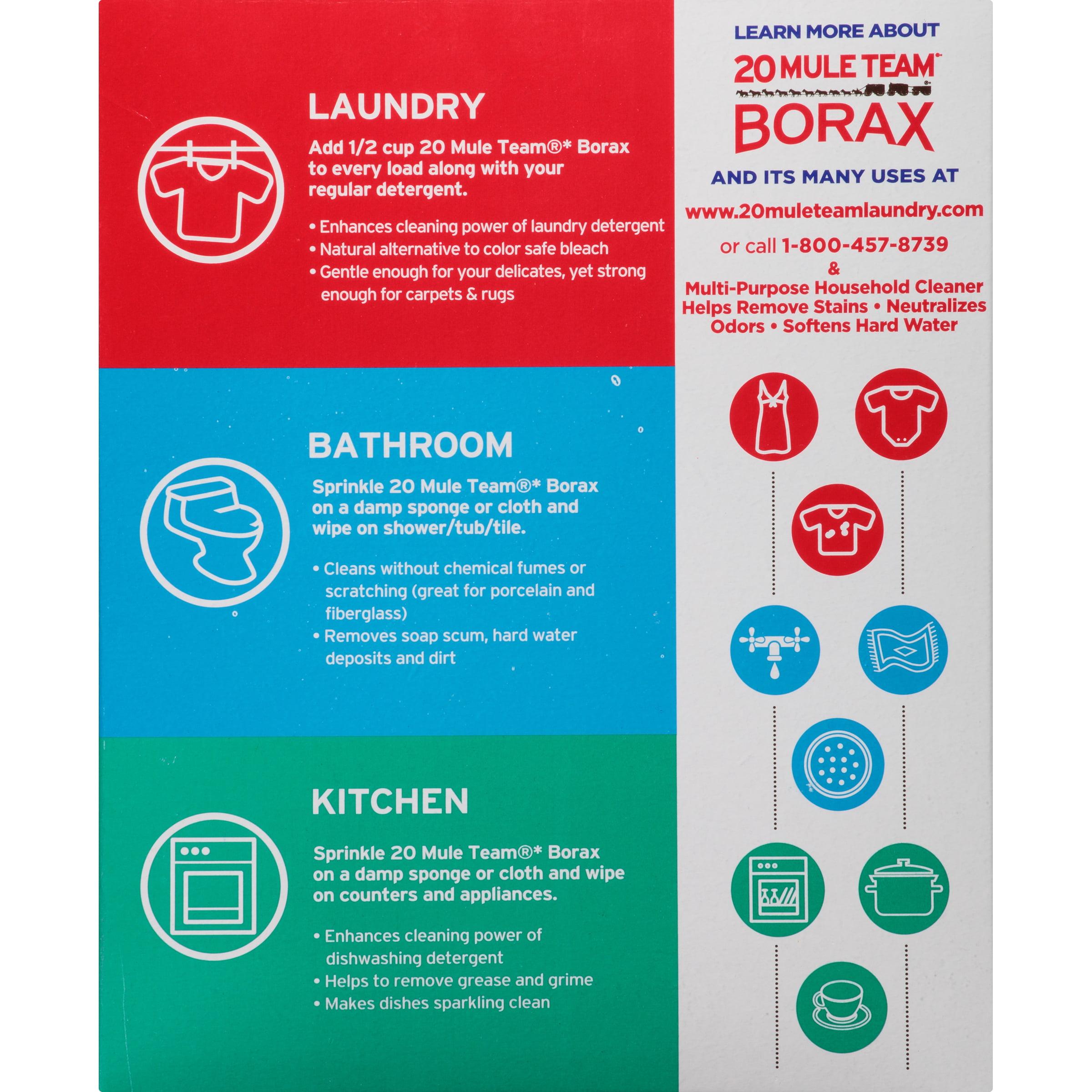 20 Mule Team Borax Detergent Booster & Multi-Purpose Household ...