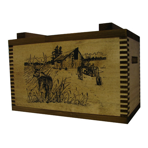 Evans Sports Standard Storage Box With Barnyard Buck Print