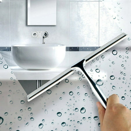 Squeegee,Stainless Steel Glass Window Squeegee Shower Mirror Squeegee Window Wiper Squeegees for Showers Bathroom