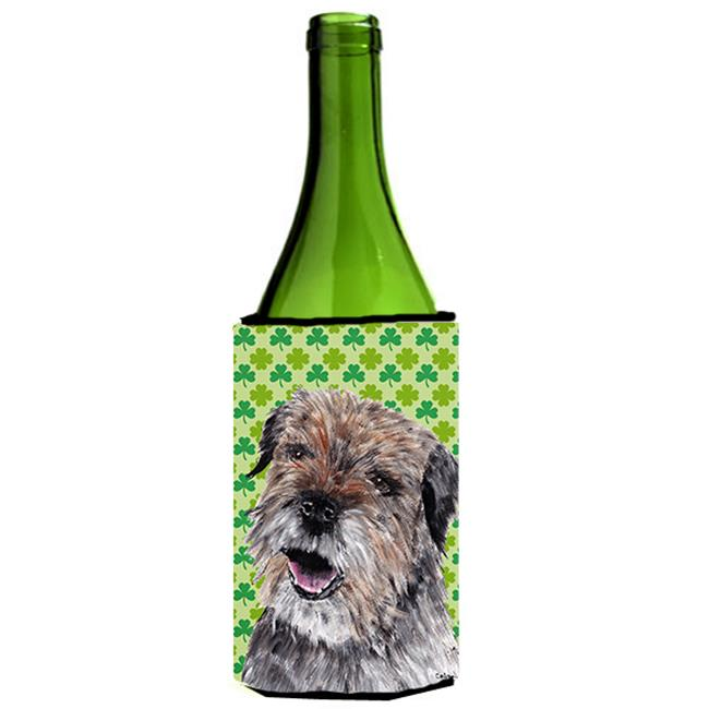 Carolines Treasures SC9571LITERK Border Terrier St Patricks Irish Wine bottle sleeve Hugger - 24 oz. - image 1 de 1
