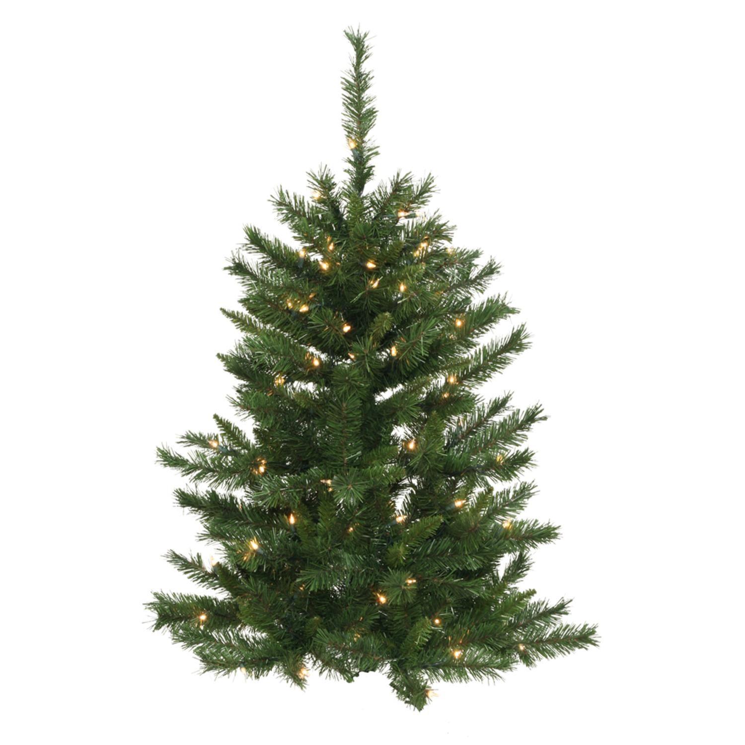 3' Pre-Lit Artificial Imperial Pine Christmas Wall Tree - Clear Lights