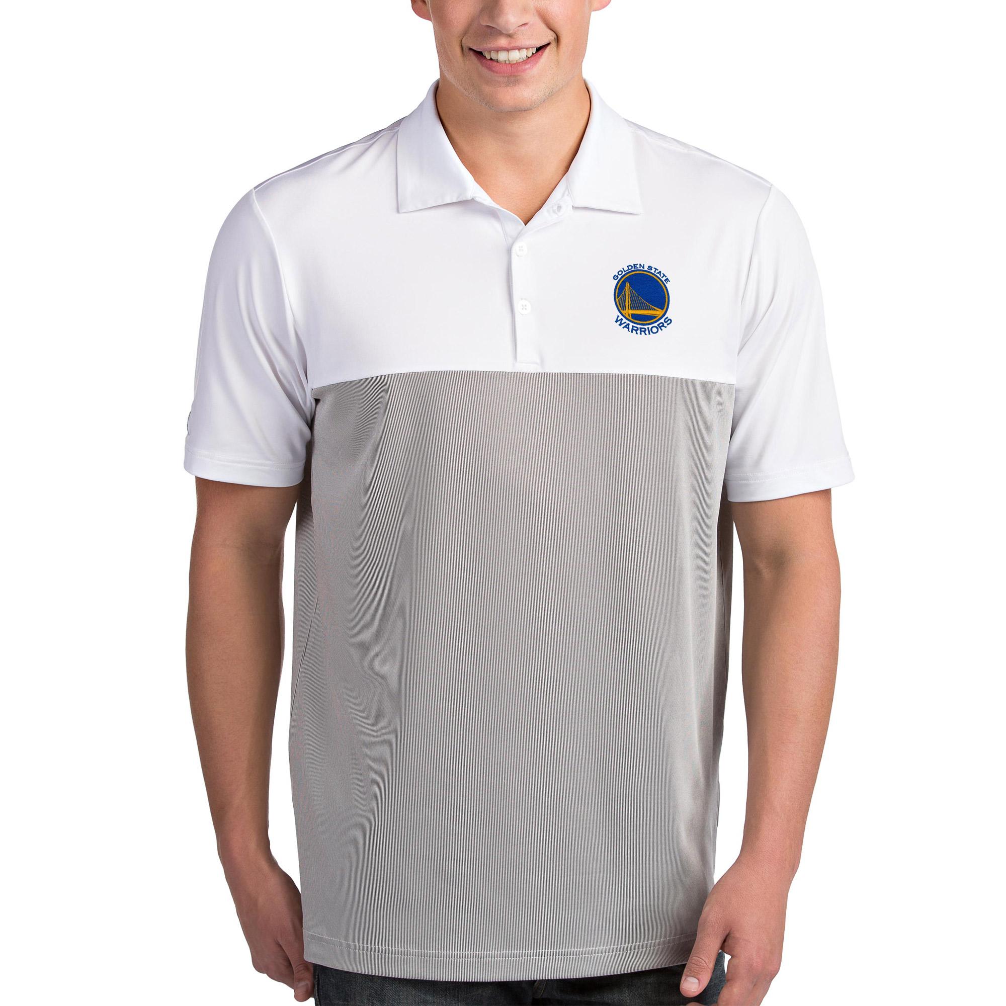 Golden State Warriors Antigua Venture Polo - White/Gray