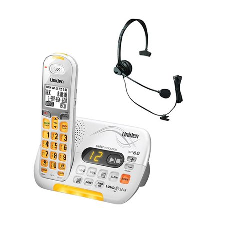 Uniden D3097 with Headset DECT 6.0 Amplified Cordless Phone Amplified Cordless Telephone