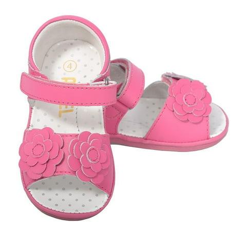 Cute Fuchsia Flower Strap Spring Sandals Baby Girls 1-Toddler 7