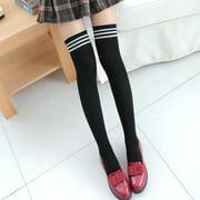 Meet Myself Girls Women's Clothing Non-Slip Anti-Hem Fashion Thigh High Over Knee High Socks
