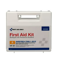 First Aid Only 89 Piece Plastic First Aid Kit, ANSI Compliant