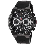 14086Sm-Bb-01-Sa Opus Chronograph Black Silicone And Dial Black Ip Steel Case Watch