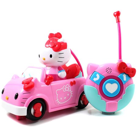 HELLO KITTY CONVERTIBLE REMOTE CONTROL VEHICLE BY JADA TOYS - Toy Clearance