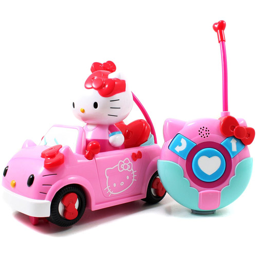 HELLO KITTY CONVERTIBLE REMOTE CONTROL VEHICLE BY JADA TOYS