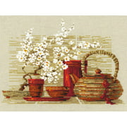"""Tea Counted Cross Stitch Kit, 11.75"""" x 9.5"""", 14-Count"""