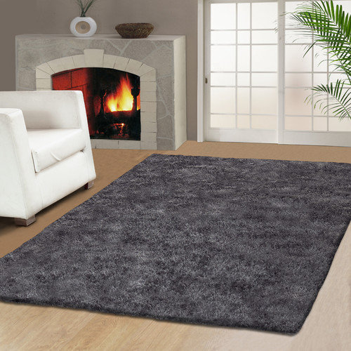 Simple Luxury Superior Hand Tufted Gray 5' x 8' Area Rug