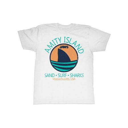 Jaws Movie Thriller Spielberg Shark Fin Adult T-Shirt Tee - Thriller Jackets