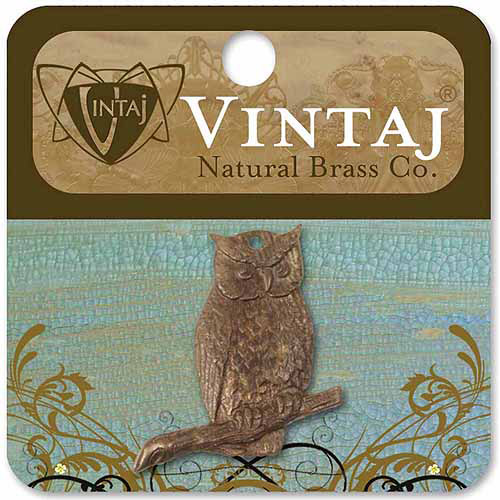 Vintaj Metal Accent, 1/pkg, Perching Owl