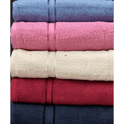 """Springfield Linen Luxurious Viscose Embroidered 6 Pack Bath Towels Extra-Absorbent 100% Cotton - 27"""" x 54"""""""